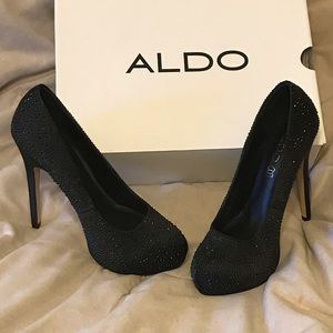 Aldo Embellished Rhinestone Heels